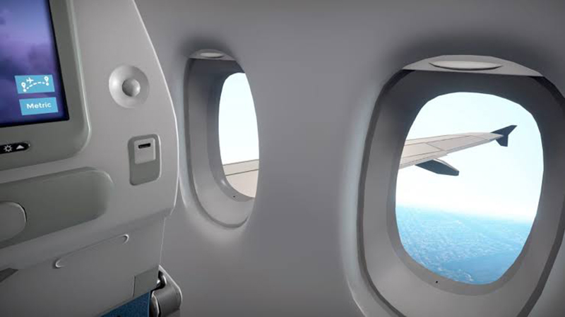 Interior da aeronave