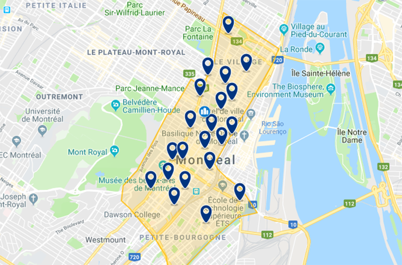 Melhor região para se hospedar em Montreal