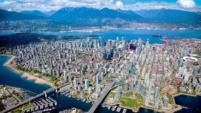 Vista da cidade de Vancouver