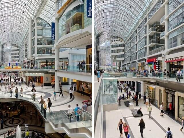 Melhores shoppings em Toronto