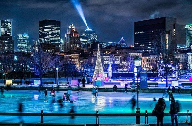 Pistas de patinação no gelo em Montreal