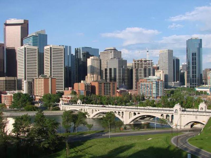 Bairro de Downtown em Calgary
