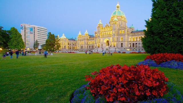 British Columbia Parliament Buildings em Victoria