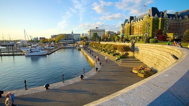 Pontos turísticos em Victoria no Canadá