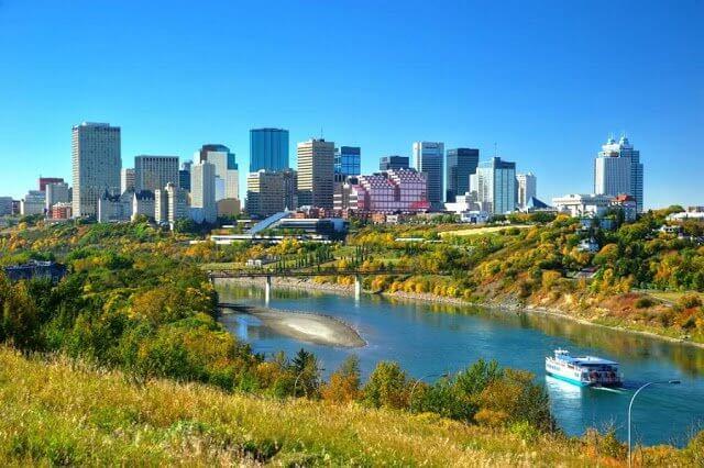 Que língua falam em Edmonton