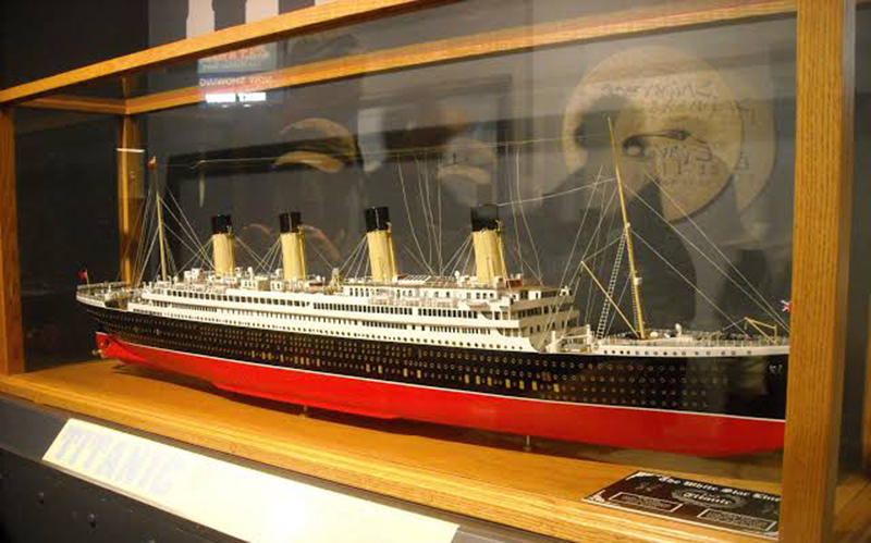 Miniatura do Titanic no Museu Marítimo do Atlântico em Halifax