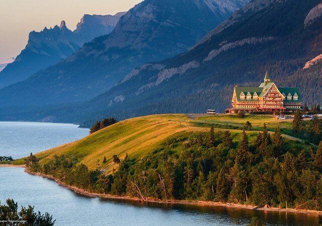 Parque Nacional Lagos Waterton no Canadá