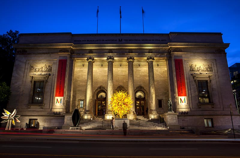 Fachada do Montreal Museum of Fine Arts