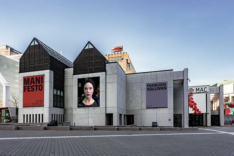 Entrada do Museu de Arte Contemporânea de Montreal