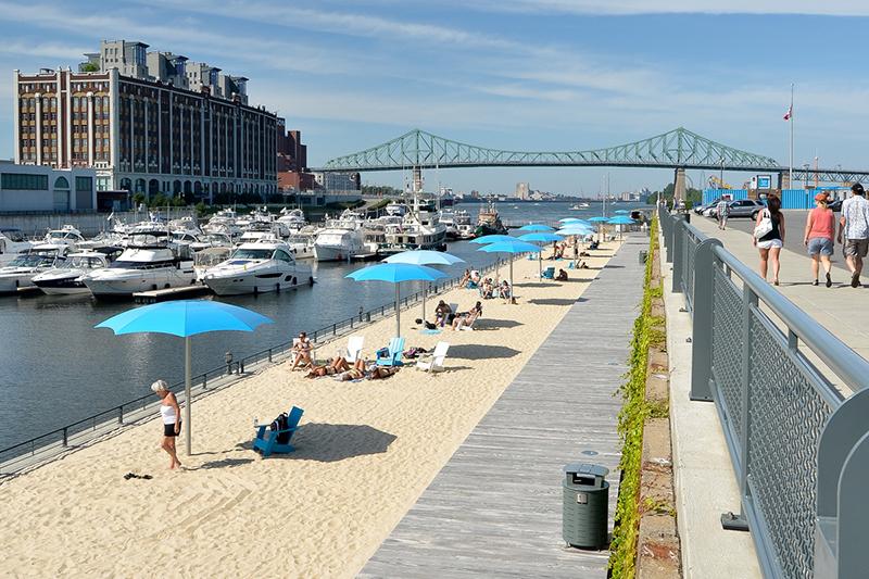 Estrutura da Praia do Relógio em Montreal