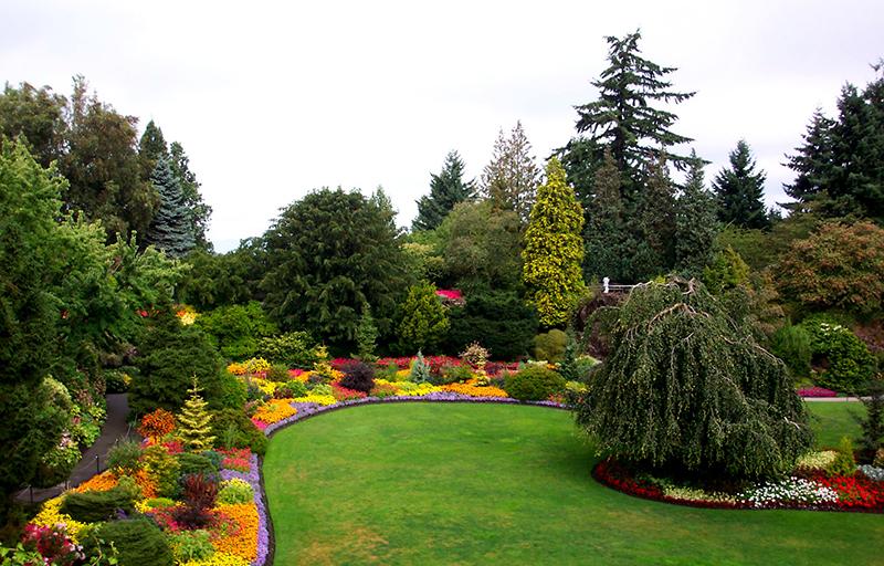 Cenário romântico no Queen Elizabeth Park em Vancouver