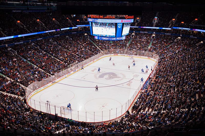 Jogos de Hockey na Rogers Arena em Vancouver