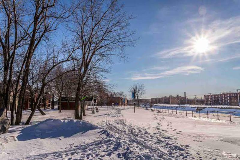 Inverno no Canal Lachine em Montreal