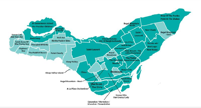 Mapa turístico de Montreal