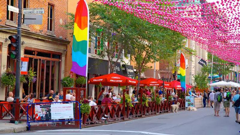 Rue Saint-Catherine em Montreal