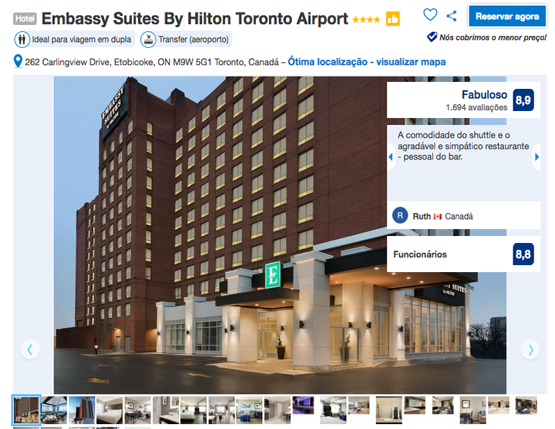Reservas no Embassy Suites By Hilton Toronto Airport