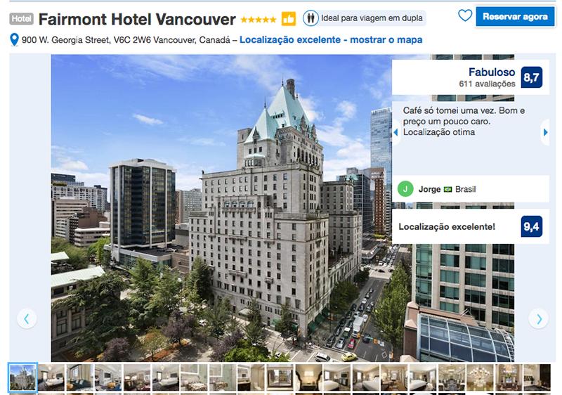 Fairmont Hotel em Vancouver