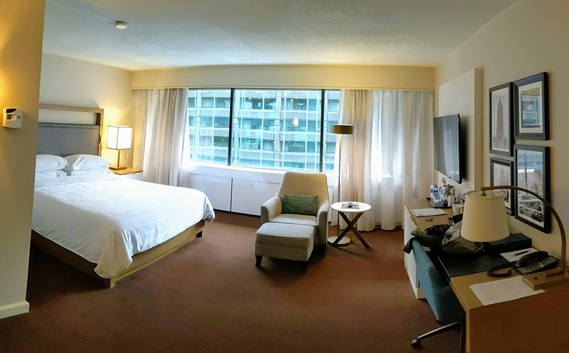 Quarto do Hotel Sheraton em Ottawa