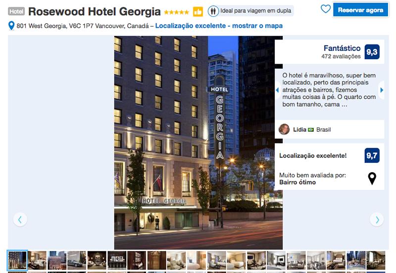 Reservas Rosewood Hotel Georgia em Vancouver