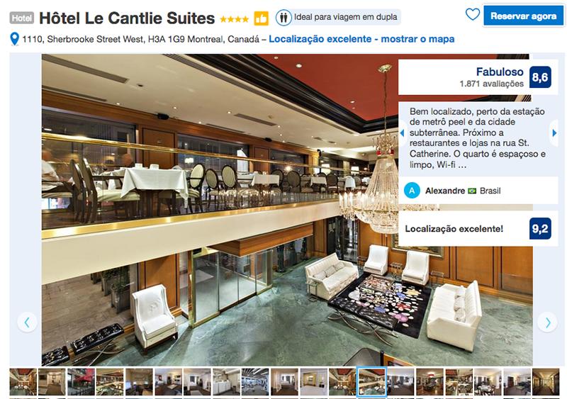 Reservas Hôtel Le Cantlie Suites em Montreal