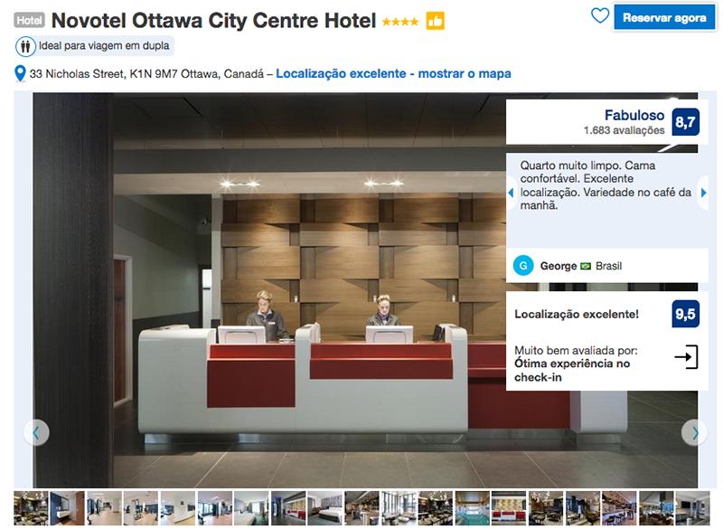 Hotel Novotel City Centre em Ottawa
