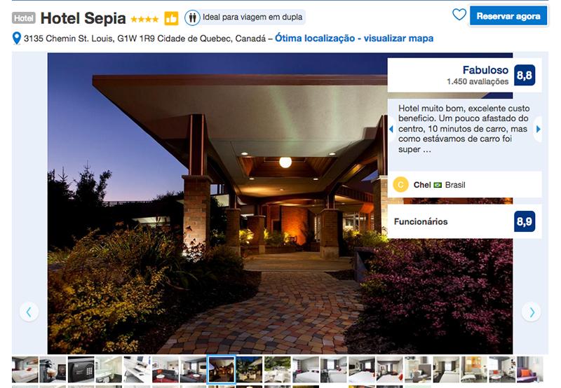 Hotel Sepia em Quebec