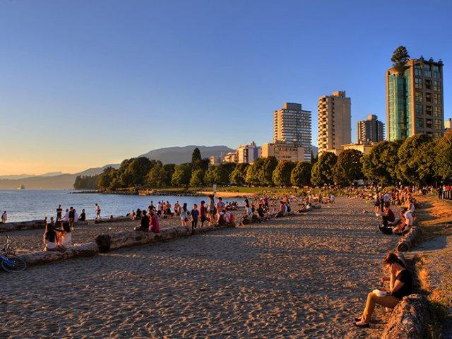 Sunset Beach em Vancouver