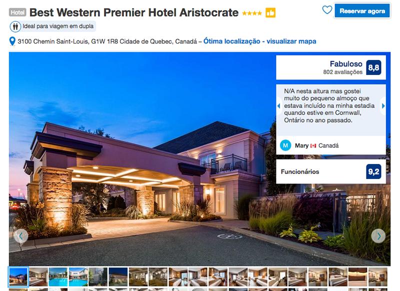Reserva Best Western Premier Hotel Aristocrate em Quebec