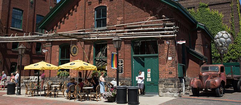 Balzac's Coffee Roasters em Distillery District em Toronto