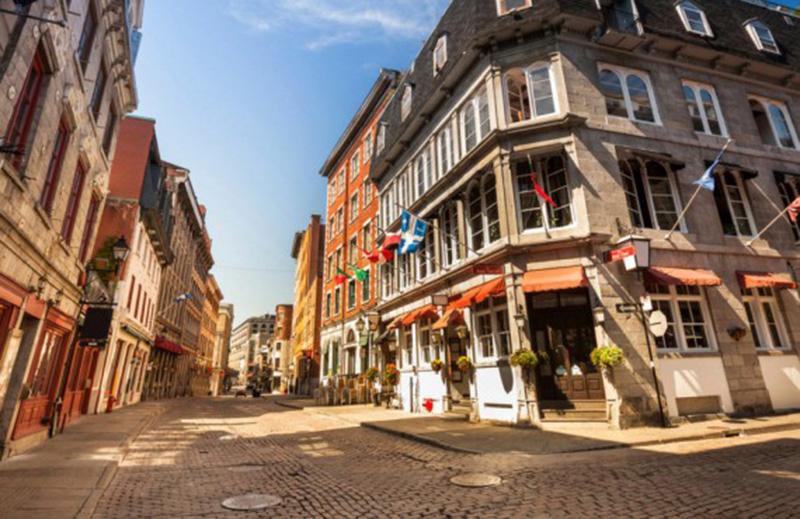 Charme do bairro de Old Montreal