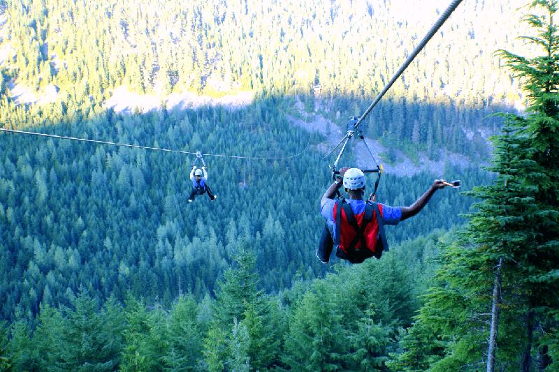 Passeio de Tirolesa em Whistler