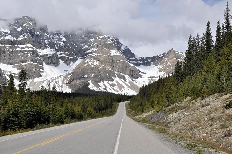 Caminho do Parque Nacional em Banff
