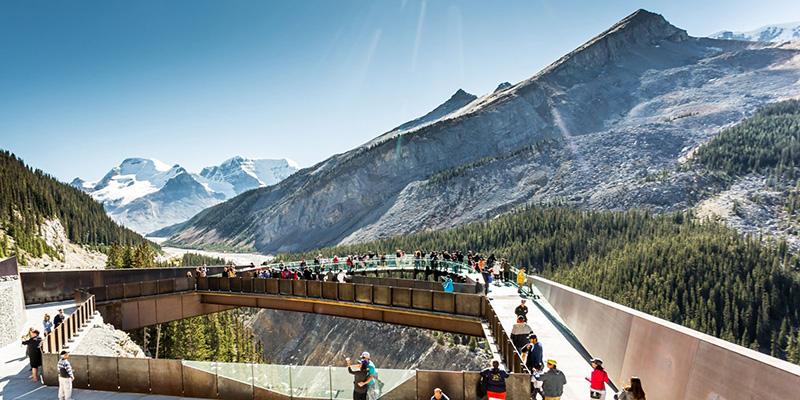 Passarelas do Parque Nacional em Banff