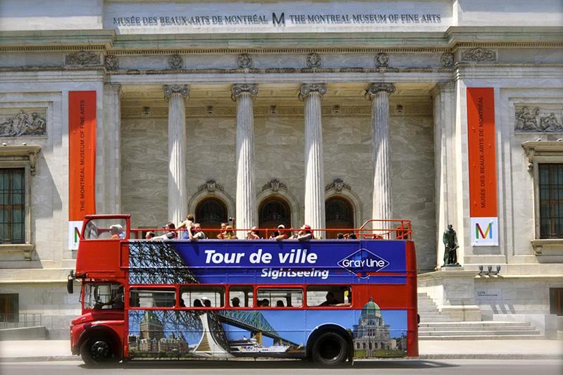 Tour guiado de ônibus nos pontos turísticos de Montreal