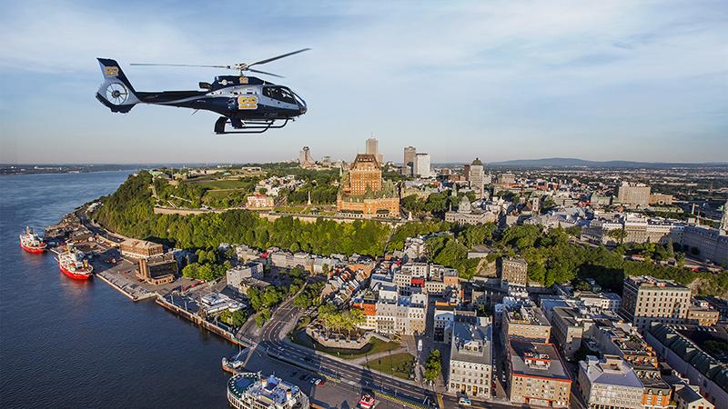 Cidade de Quebec vista de cima