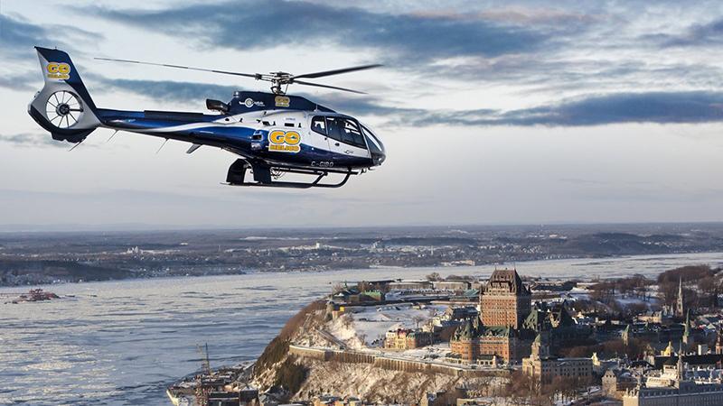 Excursão de helicóptero em Quebec