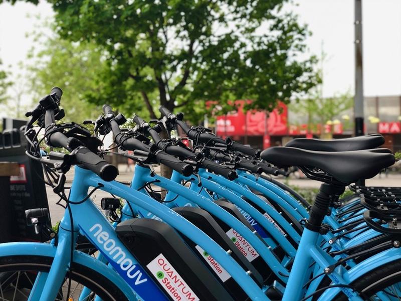 Bicicletas elétricas em Montreal