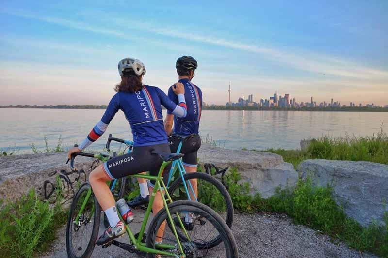 Paisagem das ciclovias em Toronto