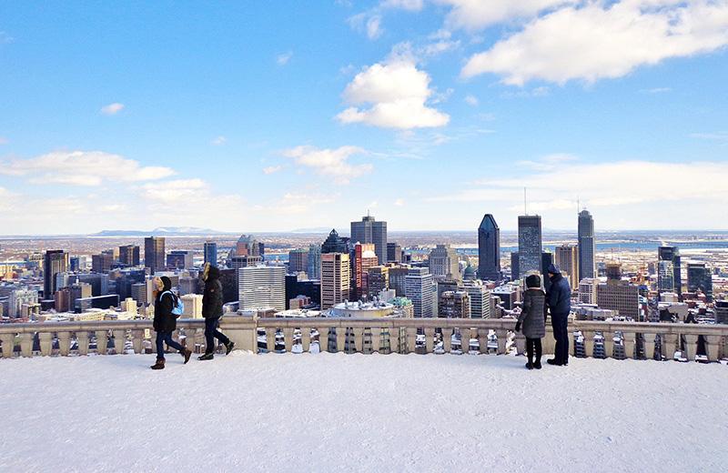 Vista do inverno em Montreal