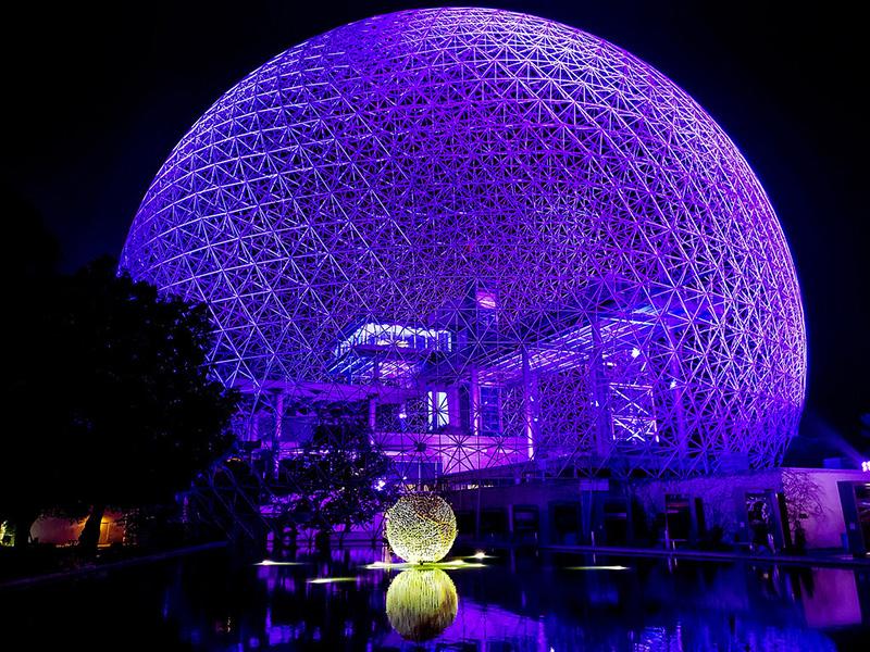 Biosphere na excursão noturna em Montreal