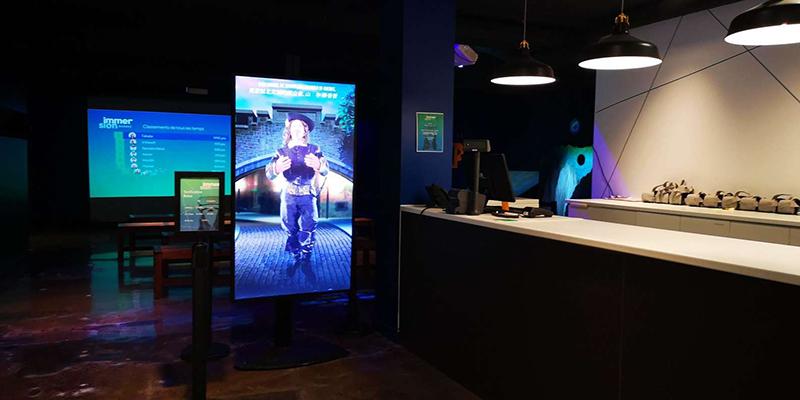 Interior da Experiência de realidade virtual em Quebec