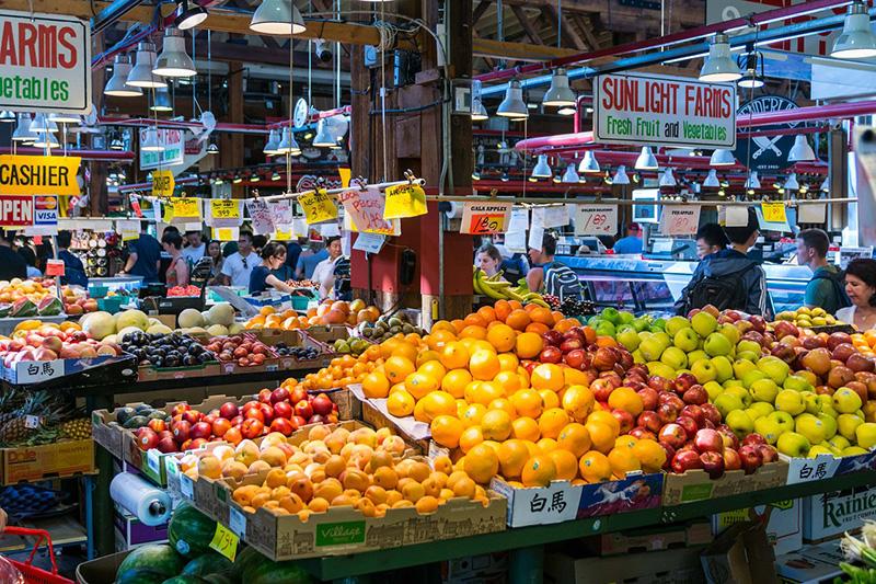 Mercado de Granville Island em Vancouver