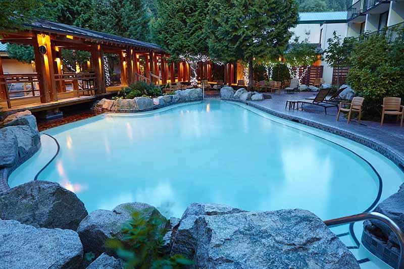 Piscina do Spa Harrison Hot Springs em Vancouver